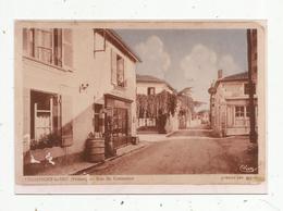 Photographie De Cp ,86 ,  CHAMPIGNY LE SEC , Rue Du COMMERCE - France