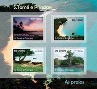 S. TOME & PRINCIPE 2010 - Beaches - YT 3738-41, Mi 4767-70 - Sao Tome Et Principe