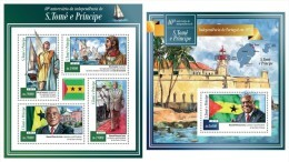 S. TOME & PRINCIPE 2015 - 40 Ann. Independence - YT 4786 + BF801 - Sao Tome Et Principe