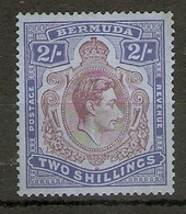 """BERMUDA 1938 2s SG 116 UNLISTED """"NOSE DROPLET"""" VARIETY LIGHTLY MOUNTED MINT - Bermuda"""