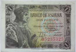 Ref. 117-522 - BIN SPAIN . 1943. 1 Peseta Estado Espa�ol 21 De Mayo De 1943. 1 Peseta Estado Espa�ol 21 De Mayo De 1943 - Ohne Zuordnung