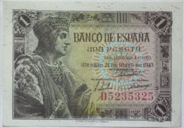 Ref. 117-522 - BIN SPAIN . 1943. 1 Peseta Estado Espa�ol 21 De Mayo De 1943. 1 Peseta Estado Espa�ol 21 De Mayo De 1943 - [ 1] …-1931 : First Banknotes (Banco De España)