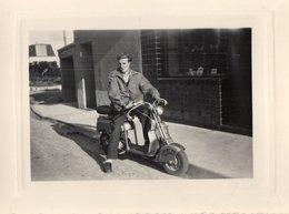 Photo Authentique -  KERHUON  -  LAMBRETTA  - 8 Sept 1950 - Lieux