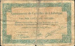 Ref. 447-828 - BIN SPAIN . 1937. 25 CENTIMOS AJUNTAMENT DE CASTELLET DE LLOBREGAT 1937 - [ 2] 1931-1936: Republik