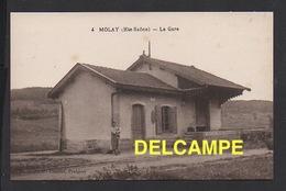 DD / 70 HAUTE SAÔNE / MOLAY / LA GARE DU CHEMIN DE FER / ANIMÉE - Other Municipalities