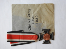 Croix De Fer, 2éme Classe Avec Son Enveloppe Papier. - Alemania