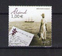 Aland. Europa 2008. L'écriture D'une Lettre - Aland