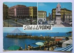 SALUTI DA LIVORNO - VEDUTE  - VIAGGIATA FG - Livorno