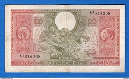 Belgique  100 Fr  Du  1/02/1943 - [ 3] Deutsche Besatzung In Belgien