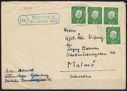 Brief Posthilfstelle/Landpost Garnberg über Künzelsau 1960  (1944 - Briefmarken