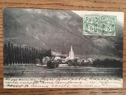 CPA, GLIS-BRIG, SUISSE,écrite En 1906, 2 Timbres, Cachets BRIS / Montecarlo Et Tampon Frankatur Siehe Rückseite - VS Valais