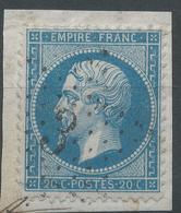 Lot N°49057  N°22/fragment, Oblit étoile Chiffrée 3 De PARIS ( Pl De La Madeleine ) - 1862 Napoléon III