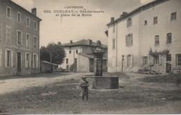 63 CUNLHAT  Gendarmerie Et Place De La Motte - Cunlhat
