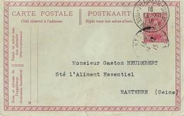 Entier Postal Ste Adresse Poste Belge - Guerre De 1914-18