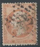 Lot N°49061  N°23, Oblit étoile Chiffrée 22 De PARIS ( R. Taitbout ) - 1862 Napoleone III