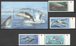 O874 2009 ASCENSION ISLAND MARINE LIFE DOLPHINS & WHALES 1BL+1SET #1063-6 !!! MICHEL 20 EURO !!! MNH - Baleines