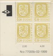 PIA - FINLANDIA  - 1998 - 1999 : Uso Corrente - Leone Rampante Nuovo Tipo - (Yv 771 X 4) - Finlandia