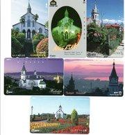6 Télécartes Japon Japan Phonecard Toutes Différentes églises Church Paysage (D 559) - Landschappen