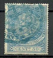 ITALIA ITALY 1871 Revenue Tax Fiscal Atti Amministrativi 50 C. Vittorio Emanuele II Marca Da Bollo O - 1861-78 Victor Emmanuel II.
