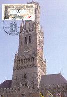 D37343 CARTE MAXIMUM CARD TRIPLE 2012 BELGIUM - BRUGGE BELFORT BEFFROI CP ORIGINAL - Architettura