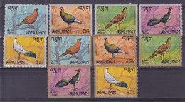 BHOUTAN, Faisans N° 143/152**,1968,cote 8€50 - Bhoutan