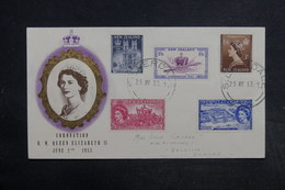 NOUVELLE ZÉLANDE - Enveloppe FDC 1953 , Reine Elisabeth II - L 32296 - FDC