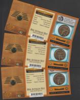"""AUSTRALIA - 2006 TV $1 Carded Coins X3, To Clear. """"TV"""" Mintmark. Cheap - Monnaie Décimale (1966-...)"""