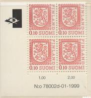 PIA - FINLANDIA  - 1978 - 1999 : Uso Corrente - Leone Rampante Nuovo Tipo - (Yv 788 X 4) - Nuovi