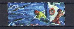 Aland. Pêcheurs Sur Un Bateau - Aland