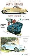 3 Cartes Japon Japan Card Toutes Différentes Voiture Car Voitures  (D 568) - Paysages