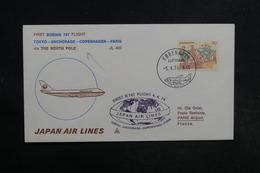 DANEMARK - Enveloppe 1er Vol Polaire Copenhague / Tokyo En 1974 - L 32303 - Cartas