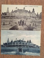 2 CPA, OSTENDE, Le Kursaal, Une Bleutée Non écrite, éd V.G, L'autre Vue De Face, écrite En 1909, Avec Timbre - Oostende