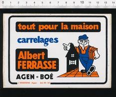 Autocollant Sticker Publicité Albert Ferrasse Agen - Boé Tout Pour La Maison Carrelages Métier Carreleur 21ADH18 - Autocollants
