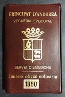 ANDORRA 1980 MONEDA MEDALLA VEGUERIA EPISCOPAL Silver Argento - Andorra