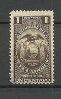 ECUADOR 1911/12 Revenue Tax Stamp Timbre Fiscal O - Ecuador