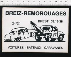 Autocollant Sticker Publicité Breiz Remorquages Voitures Bateaux Caravanes Camion Dépannage Auto Simca Aronde ?? 21ADH18 - Autocollants