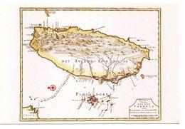 CPM   FORMOSE        FORMOSA ISLAND -  COASTS OF CHINA  -     CARTE GEOGRAPHIE DE L ILE - Formosa