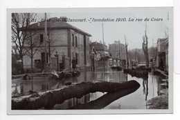 - CPA BOULOGNE-BILLANCOURT (92) - Inondation 1910 - La Rue Du Cours - Série ROSE N° 31 - - Boulogne Billancourt