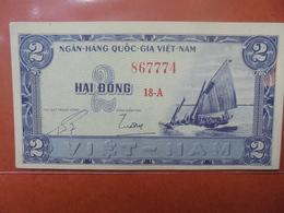 VIETNAM(SUD) 2 DÔNG 1955 PEU CIRCULER/NEUF - Vietnam