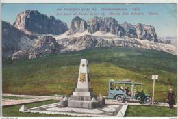AK - Italien Südtirol - Ausflugsfahrt Am Pordoijoch - Dolomitenstrasse - 1910 - Italia