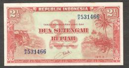 Indonesia 2.5 2 1/2 Rupiah 1953 UNC- - Indonésie