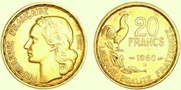 MONNAIE FRANCE 20 FRANCS GUIRAUD 1950 OR PL RARE EDITION LIMITEE PRIX DEPART 1 EURO - Or