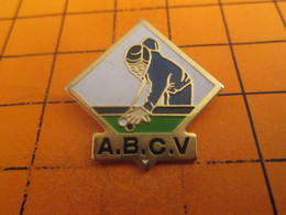 613e Pins Pin's / Rare & TB état / THEME : SPORTS / BOULES ET QUEUE UN SPORT DE MECS BILLARD CLUB ABCV - Billiards
