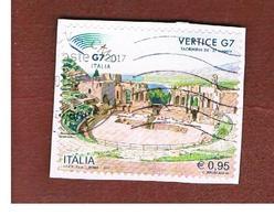 ITALIA REPUBBLICA  -   2017 VERTICE G7 A TAORMINA  -   USATO  ° - 6. 1946-.. Repubblica
