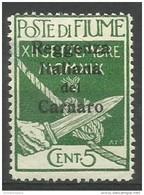 Fiume - 1920 Carnaro Overprint 5c MH *    Mi C3  Sc 106 - Fiume