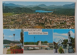 KLAGENFURT (Kärnten) - Multiview, Dampferanlegestelle, Flughafen, Airport - Vg A2 - Klagenfurt