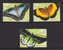 Australia 2016 Beautiful Butterflies Three Used - Used Stamps