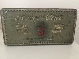 Tobacco Tin, Cigarettes .Army Club, Sandhurst Size. London. - Boites à Tabac Vides
