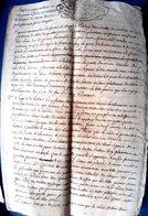 SAVOIE MOULIN ET BATTOIR DE CORNU DEVIS DE REPARATION 1765 MANUSCRIT SIGNE MARQUIS DE CHALLES - Historische Dokumente