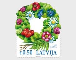 H01 Latvia 2019 Ligo Wreath MNH Postfrisch - Lettland
